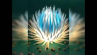 Обзор. Фантазийный пушистый цветок светильник в моем исполнении. Изолон.