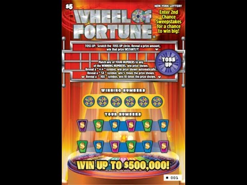 $5 WHEEL OF FORTUNE! - WIN! - Lottery Bengal cat Scratch Off NYS instant win tickets WIN !