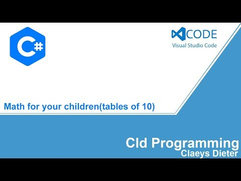C# Tutorial Math view the tables of 10