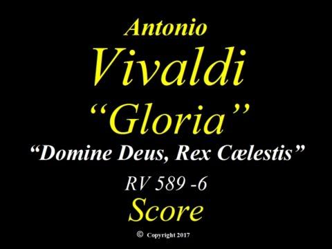 Vivaldi - Gloria - RV589 - 6 Domine Deus, Rex Cælestis - Score