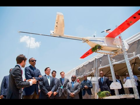 RWANDA LAUNCHES DRONE DELIVERY SERVICE