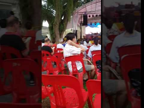 Inside a random electronic music playing for Thailand's vegetarian festival