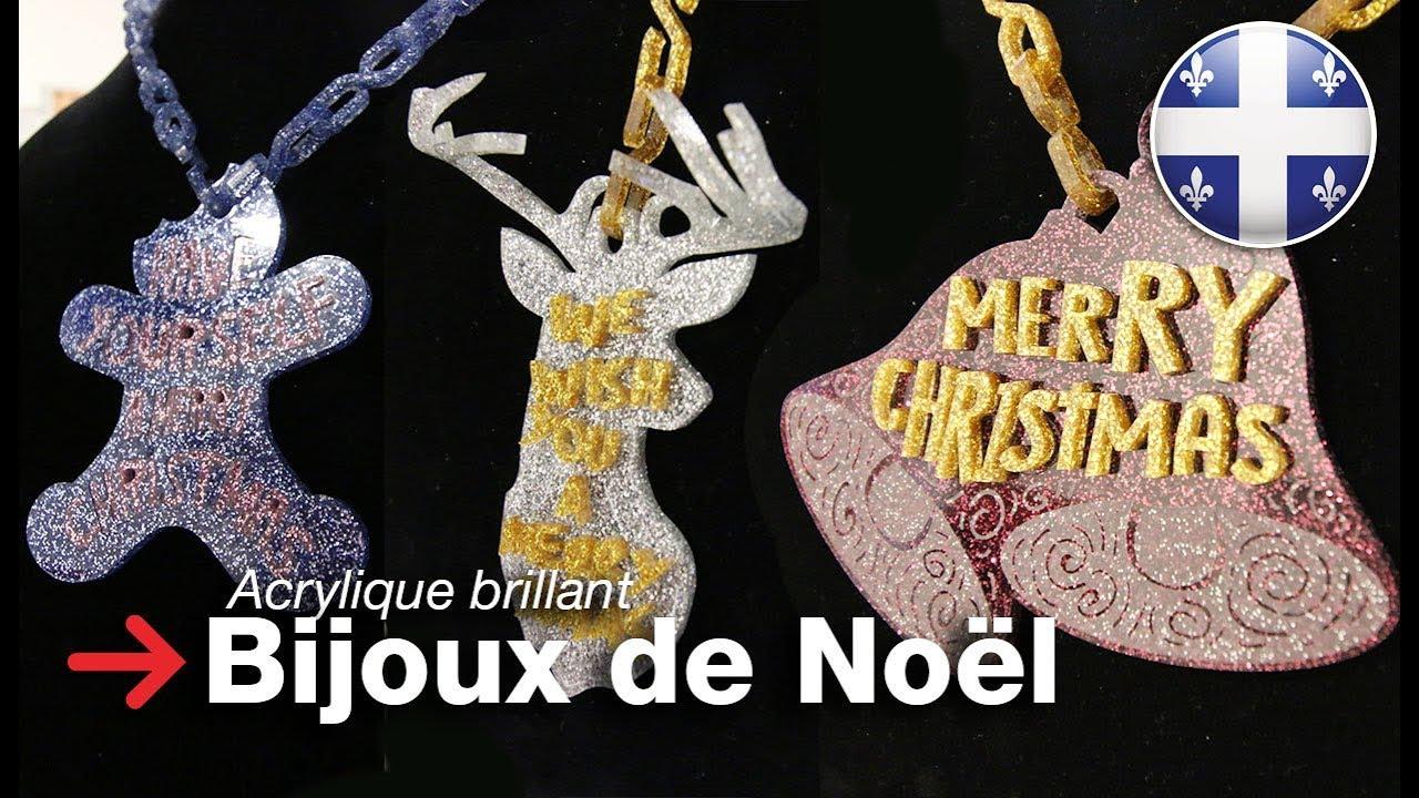 meilleur service 48ae9 59ef7 Bijoux en acrylique glitter   Bijoux de noël   Acrylique decoupe au laser
