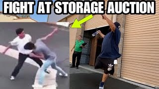 FIGHT AT STORAGE AUCTION storage wars style I bought an abandoned storage unit AND FOUND FIGHT !