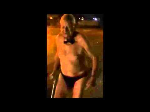 Epic Old Man Almost Naked On The Street Eng Subtitle