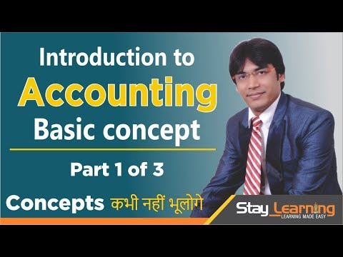 INTRODUCTION TO ACCOUNTING | Part 1 of 2 by Vijay Adarsh || Stay Learning (HINDI | हिंदी)