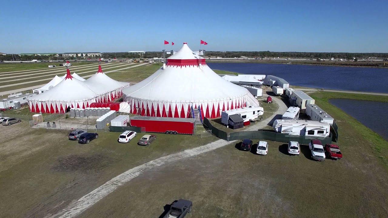 Circus Sarasota Tent and Aerial View at Nathan Benderson ...