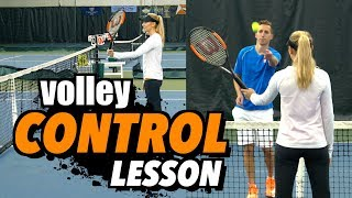 Volley Accuracy & Control Tennis Lesson + Practice Plan