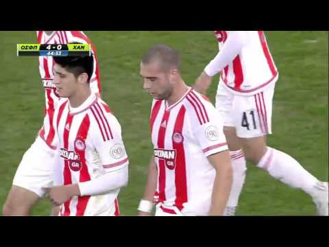 Olympiakos Piraeus vs. Chania  6 - 0 All Goals (Greek Cup - 13 January 2016)