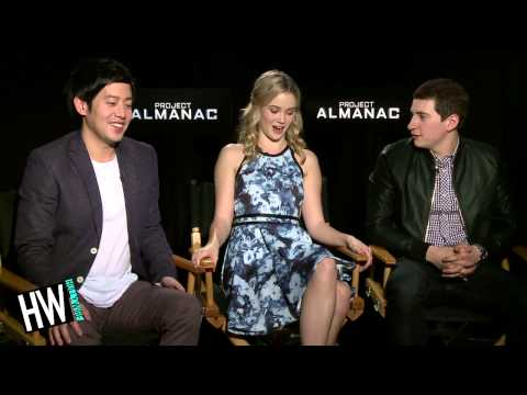 Sam Lerner, Allen Evangelista & Virginia Gardner Talk 'Project Almanac' !