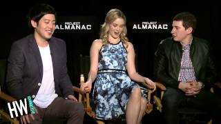 Sam Lerner, Allen Evangelista & Virginia Gardner Talk 'Project Almanac' Behind The Scenes!