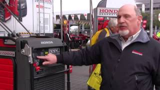 Honda displays the first electronically fuel injected inverted generator (construction equipment)