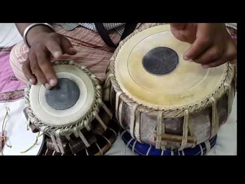 tabla lesson #91   Ustad tari khan style kherwa taal,it's variations tukda & laggies & thaie