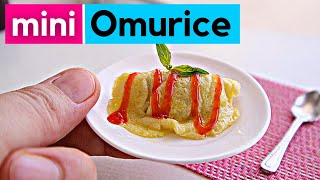 HOW TO MAKE  JAPANESE OMURICE  | Realistic Mini Kitchen Set | MINIATURE COOKING REAL | ASMR COOKING
