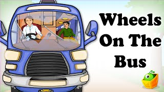 Repeat youtube video The Wheels On The Bus Go Round and Round | English Song | Animated Nursery Rhymes For Children