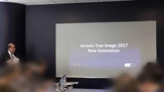 2017年2月15日に開催されたAcronis True Image 2017 New Generation記者...
