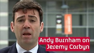 Andy Burnham questions Jeremy Corbyn credibility