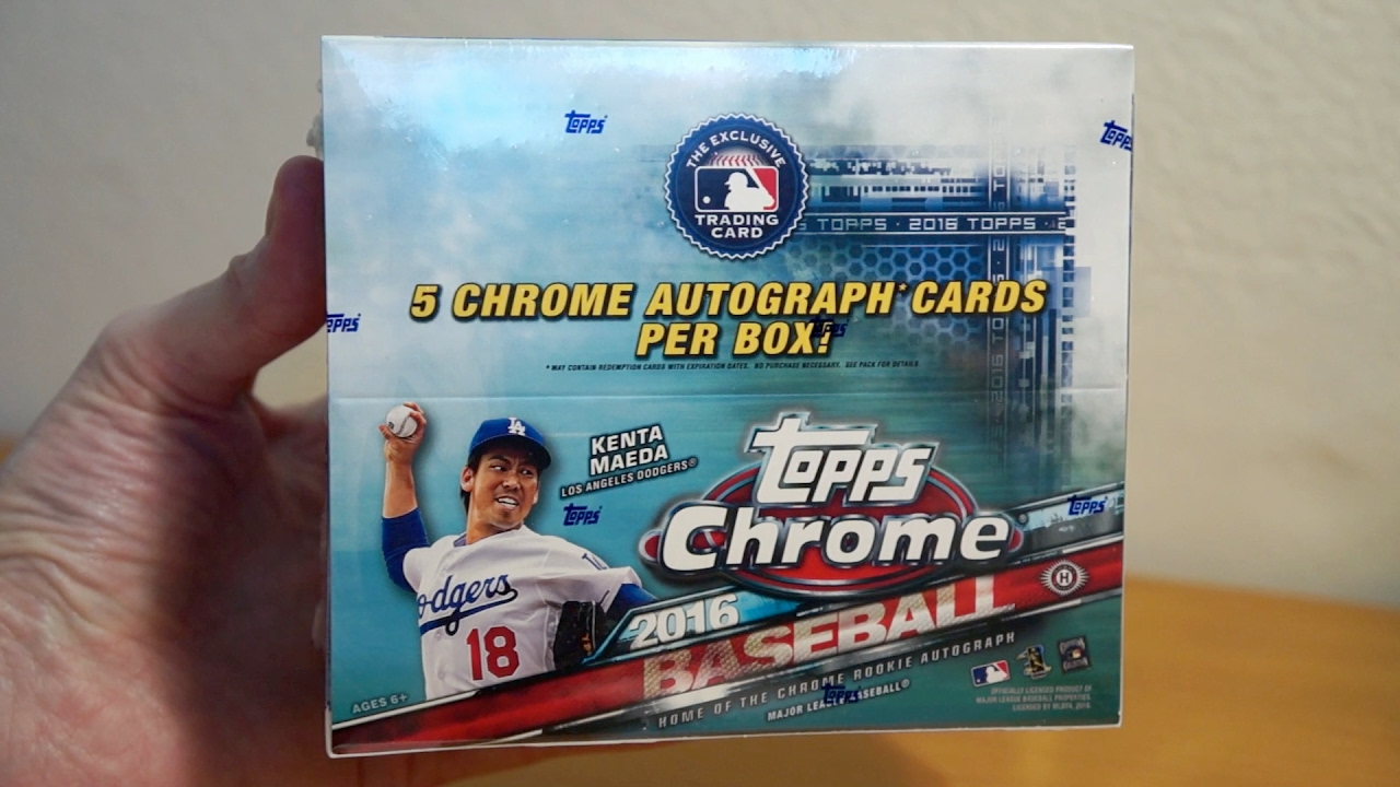 2016 Topps Chrome Baseball Jumbo 1 Box Break