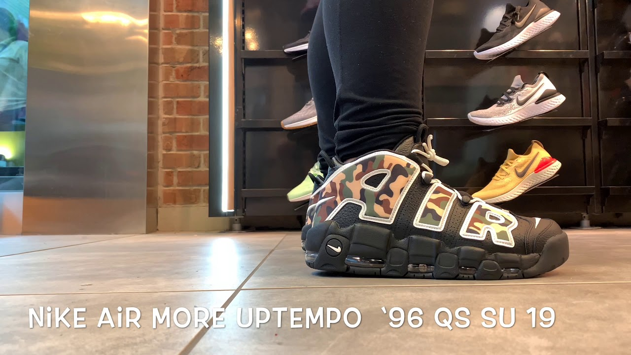 Necesario Fácil suficiente  THESE SNEAKERS ARE EPIC, the Nike Air More Uptempo '96 QS SU 19....WOW  that's a MOUTHFUL - YouTube