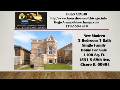 3 bd 1 ba Homes for sale in Cicero Il 60804 with DANIEL BURNHAM ELEMENTARY SCHOOL