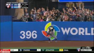 ADAM JONES ROBS MANNY MACHADO OF HOME RUN IN WBC