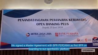 Signing ceremony with BPR Perdana