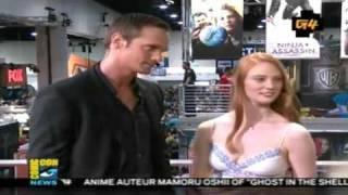 Alexander Skarsgård & Deborah Ann Woll Live from Comic Con 2009: G4TV