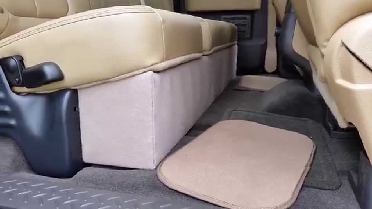 2014 F150 Back Seat Under Storage Compartment   YouTube