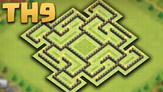 Clash Of Clans - Town Hall 9 (TH9) Farming Base (The Maze) 2016 Replays