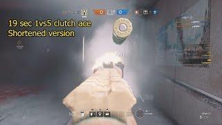 R6 Siege - 1vs5 Ace/Clutch Shortened Version