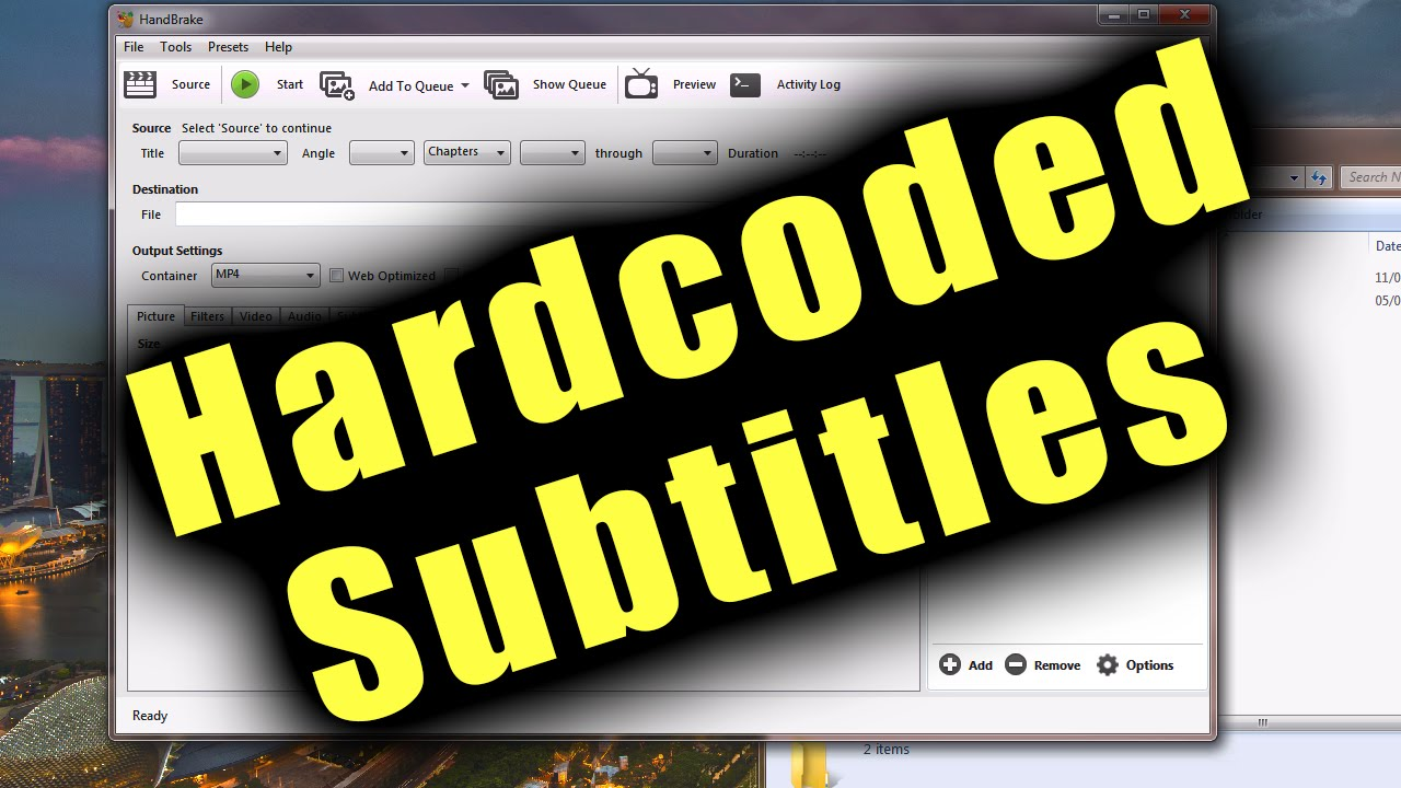 How to hardcode subtitles on mkv / mp4 files using handbrake (subtitles for  all devices)