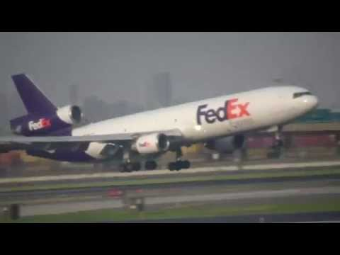 (HQ) 3 FedEx Landings at Newark Airport with ATC