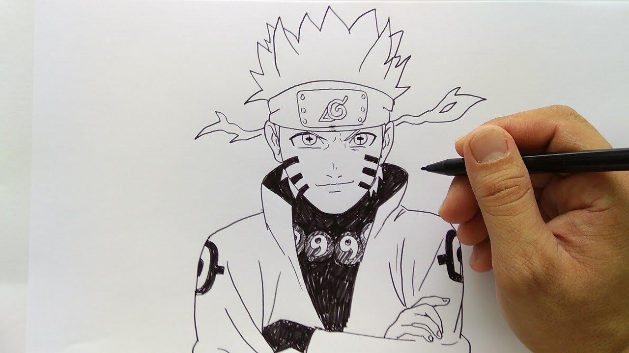 Cara Menggambar Naruto Sangat Mudah Dan Cepat