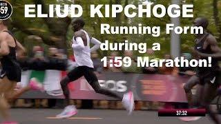 ELIUD KIPCHOGE RUNNING FORM TECHNIQUE: SUB 2 HOUR MARATHON  | Sage Canaday Tips