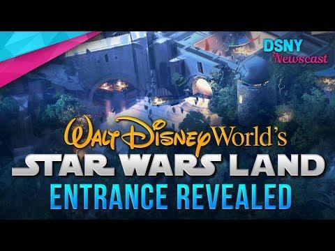 Entrance Revealed for Star Wars Land at Walt Disney World - Disney News - 9/21/17