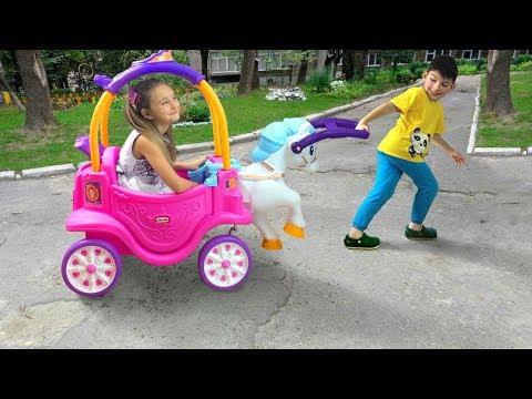 Sasha Pretend Play with Ride On Horse Toy
