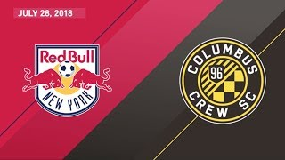 HIGHLIGHTS: New York Red Bulls vs. Columbus Crew SC | July 28, 2018