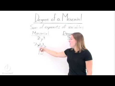 How Do You Find the Degree of a Monomial? - YouTube