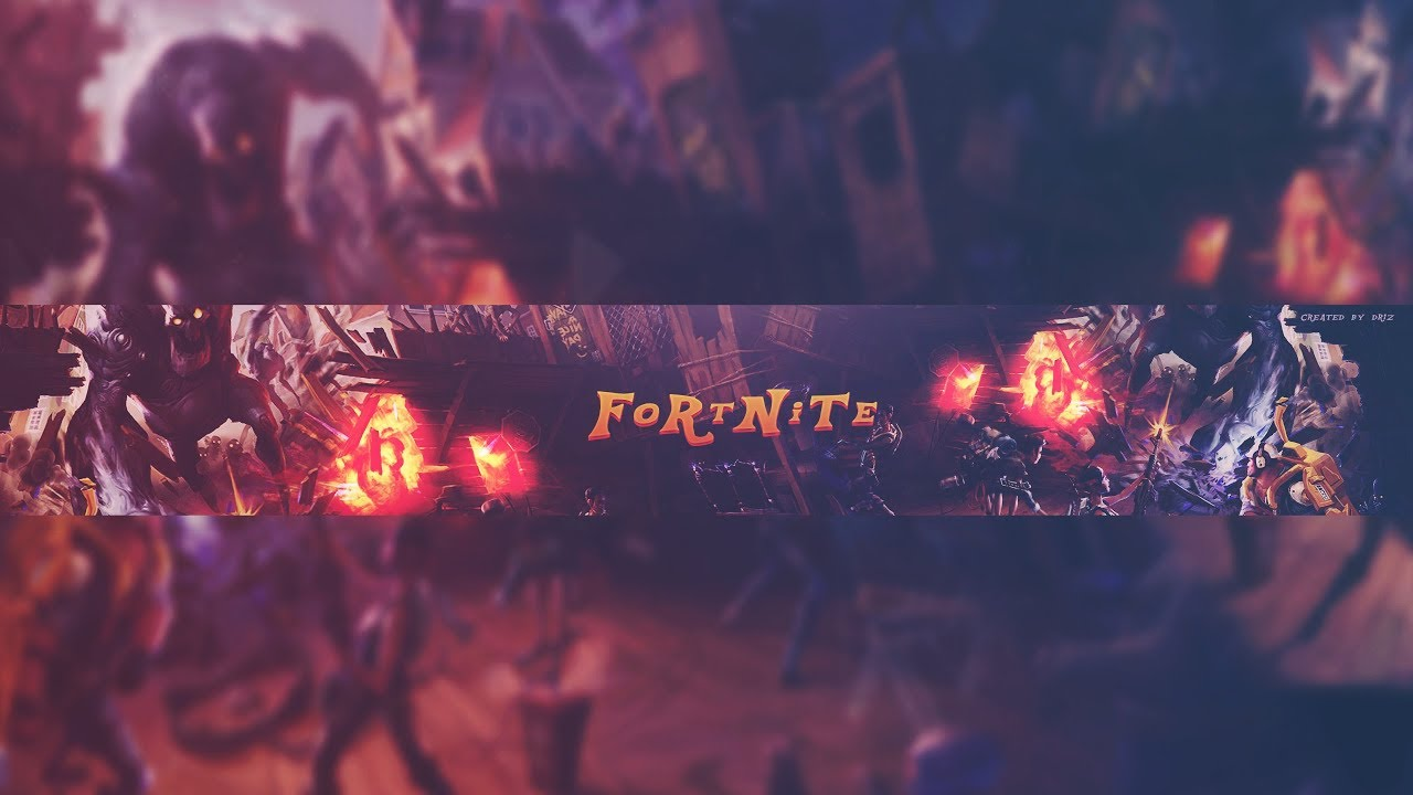 Ultimate Fortnite Youtube Banner Template Free Youtube
