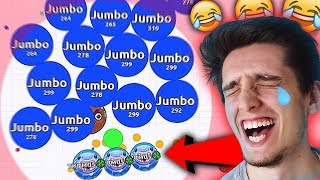 HE GOT MAD!! AGARIO SOLO GAMEPLAY