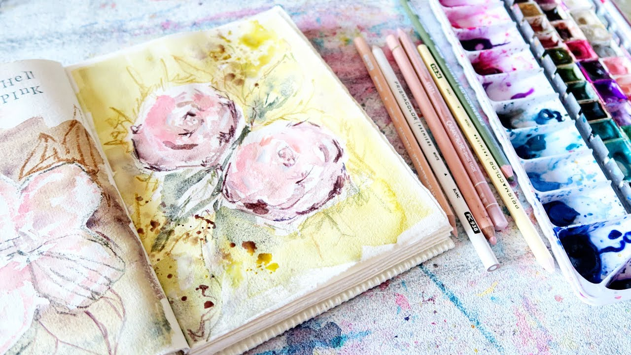 World Watercolor Month! Loose Floral- Shell Pink