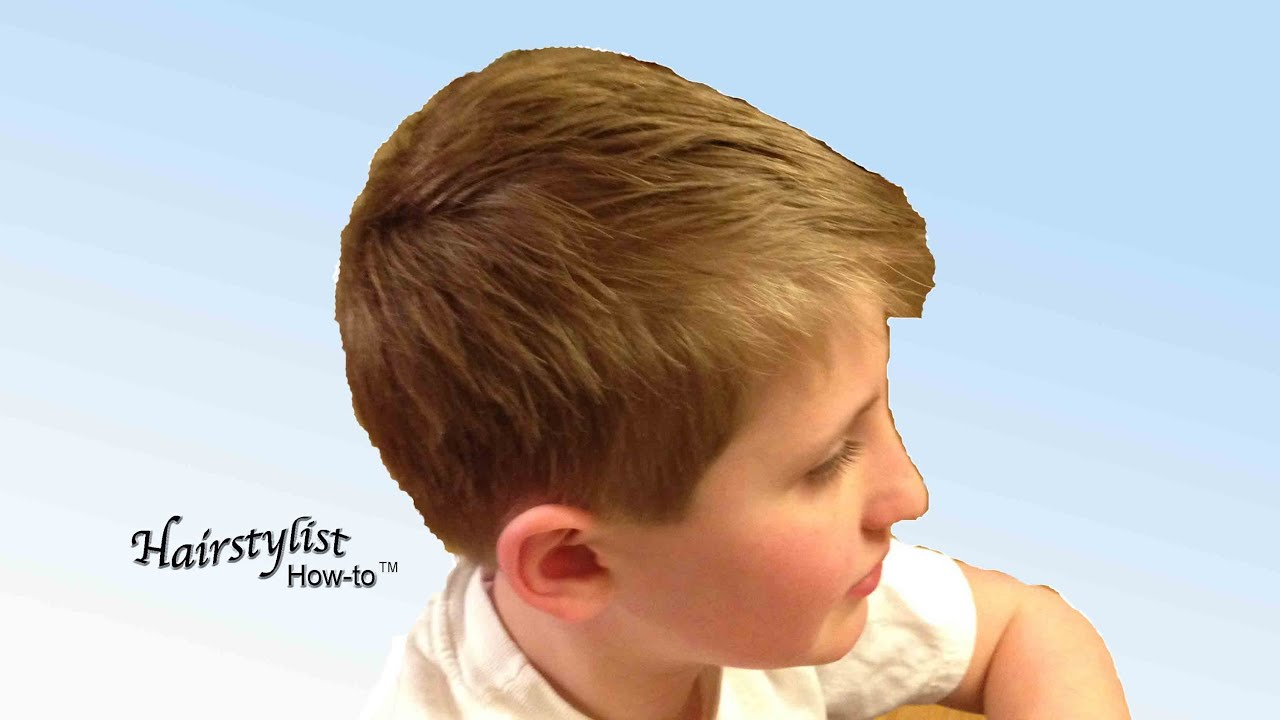 Hairstyle Youtube Boy : ... to do a Boys Haircut, Scissor Over Comb, Dry Haircutting - YouTube