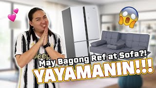 Unboxing my NEW Ref & Sofa sa Apartment!!! | NAKA-ANGAT-ANGAT ANG TITA NIYO INFAIRNESS! HAHAHA!