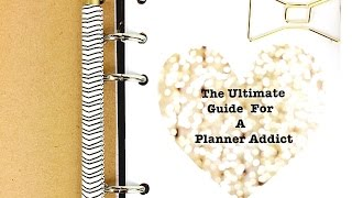 The Ultimate Guide For A Planner Addict: A Workbook Created By Me
