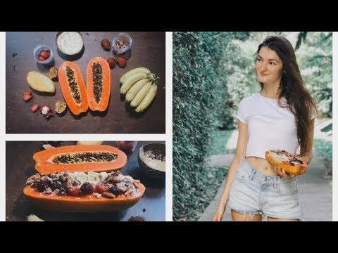 Tropical Papaya Boat | Healthy Vegan Breakfast Ideas