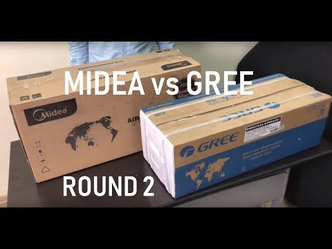 Сравнение недорогих моделей кондиционеров от лидеров рынка GREE и MIDEA