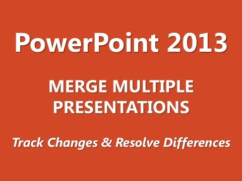 MOS Review - PowerPoint 2013 - Manage Multiple Presentations - Part 2 of 3