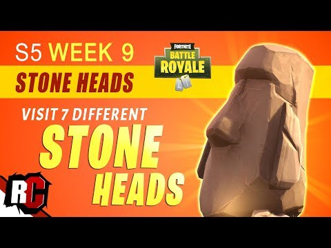 Fortnite WEEK 9 All Stone Head Locations (Visit Different Stone Heads / Season 5 Challenges)