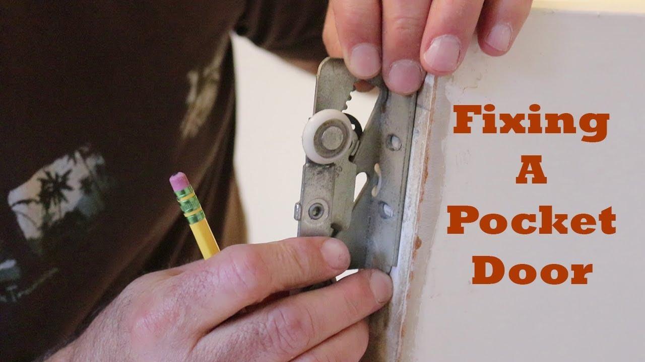 How To Fix A Stuck Pocket Door Youtube