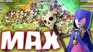 Clash of Clans :: MAX WITCHES :: HALLOWEEN ATTACKS!